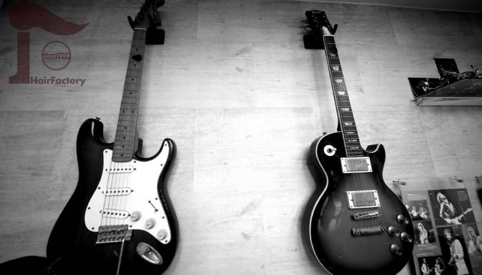 店内のインテリア・ギター